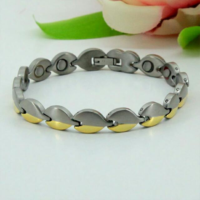 Fashion Stainless Steel Magnetic Health Energy Bracelet M8212 - Relieve Stress, Improve Blood Circulation, More Restful Sleep and Pain Relief.