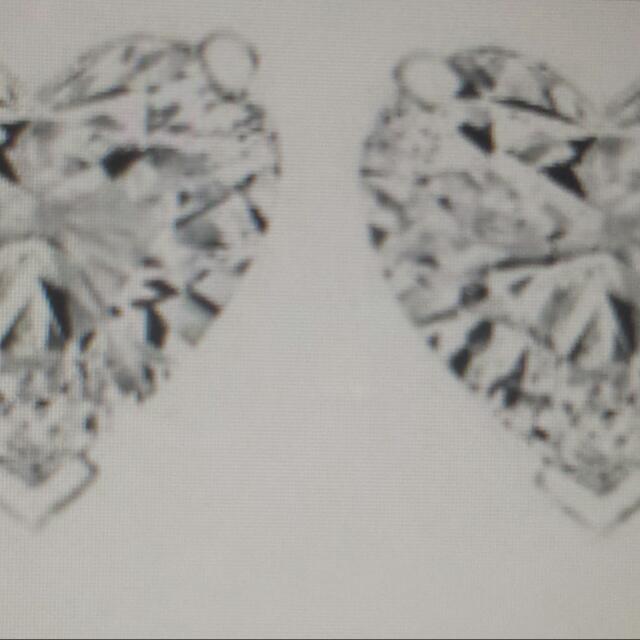 LOVE Heart shaped CZ earrings
