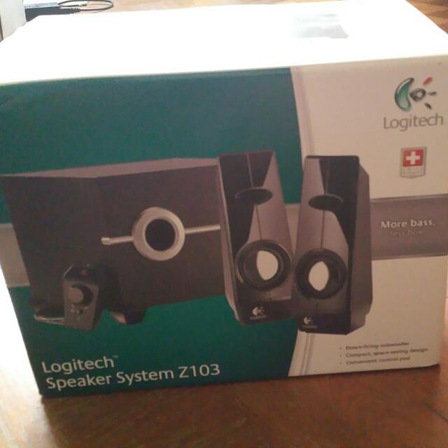 Logitech Original Z103 Speaker System BNIB