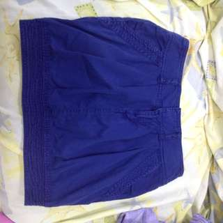 Blue Casual Skirt