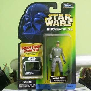 Kenner Hasbro Star Wars The Power Of The Force Green Card Freeze Frame Collection 3 Captain Piett