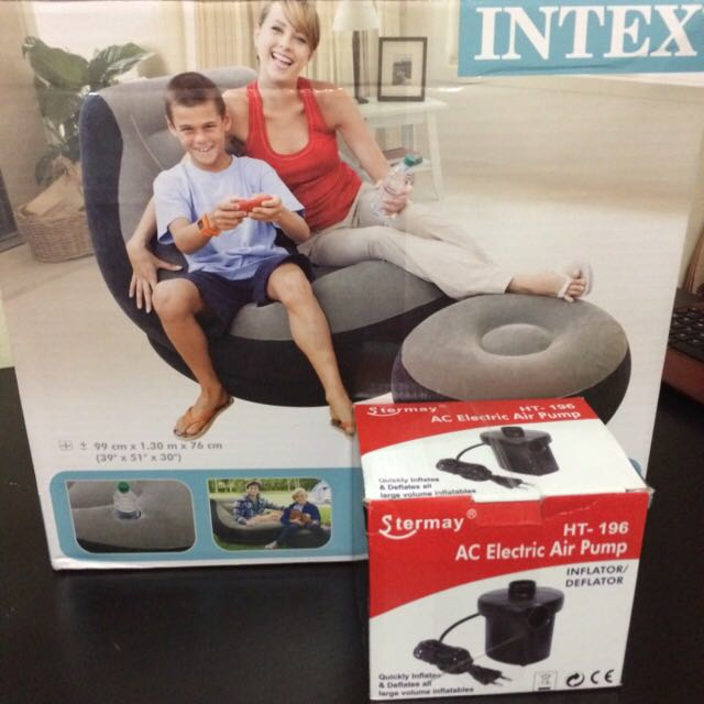 Pleasing Bnib Intex Inflatable Lounge Chair With Ottoman Eletrical Onthecornerstone Fun Painted Chair Ideas Images Onthecornerstoneorg