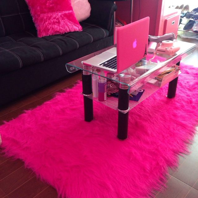 fur/faux accent carpet rag