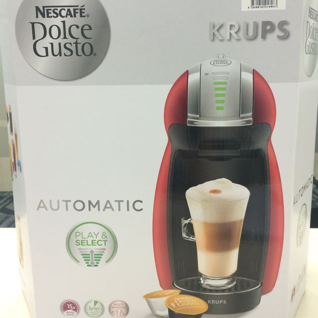 561d0eb3e Nescafe Dolce Gusto Krups Genio 2 Red Automatic, Home Appliances on  Carousell