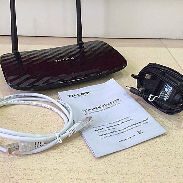Wireless Router (TP-Link Archer C2 AC750)