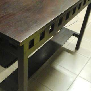 RESERVED-Brown Wooden Counter Table For Sale (Used)