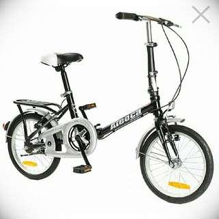 """(NEW) Aleoca 16"""" Foldable Bike (BLACK)"""