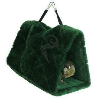 Snuggle Tent Hideaway Comfy Bed In Green For Small Medium Large Birds And Parrots