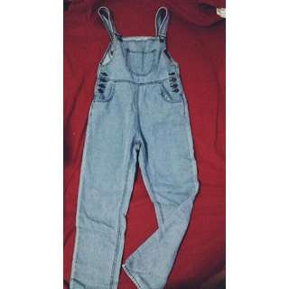 (Pending) Brand NEW Jeans Jumpsuit(Light Blue)