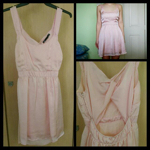 Baby Pink Cut Out Dress