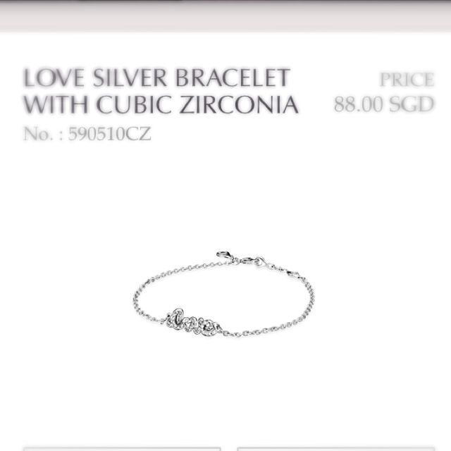 b7ecdbc2b BN Authentic Pandora Signature Of Love Bracelet, Luxury on Carousell