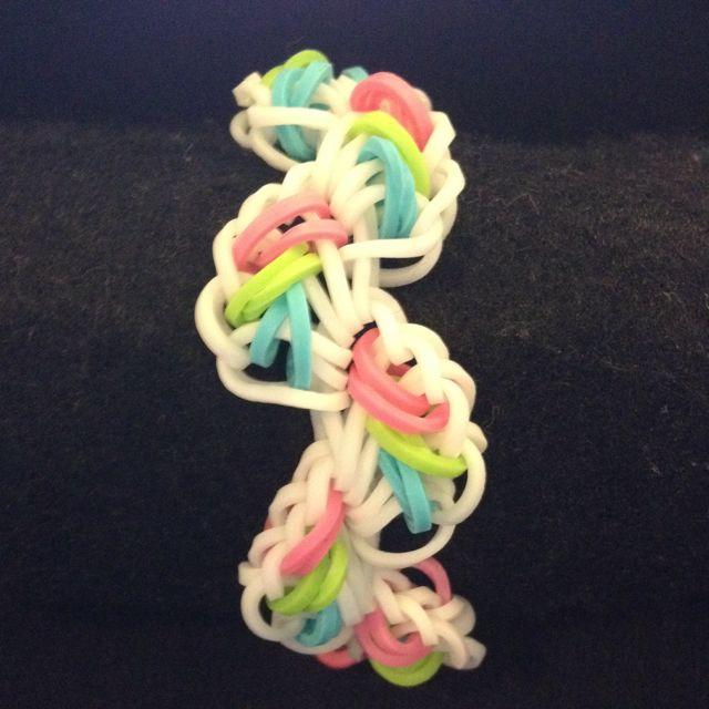 Diagonalism Rainbow Loom Bracelet
