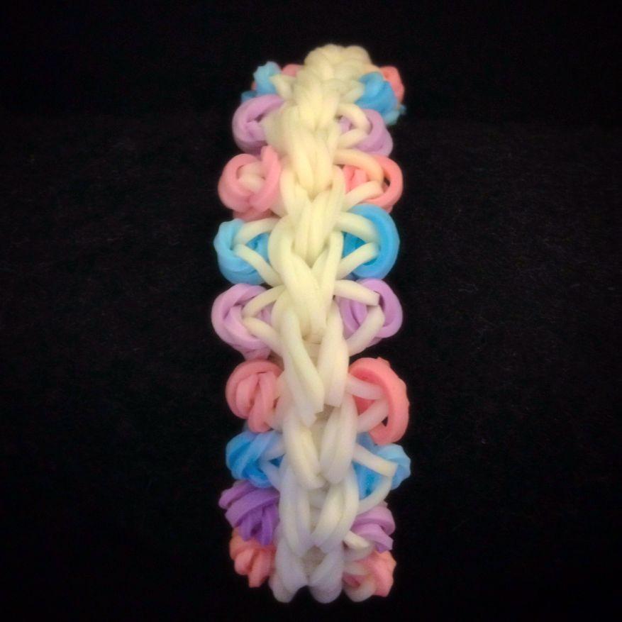 Dip & Dot Rainbow Loomband Bracelet