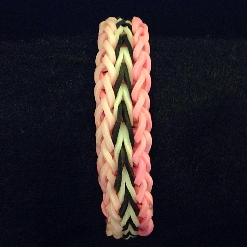 Flipped A Doodle Rainbow Loom Bracelet