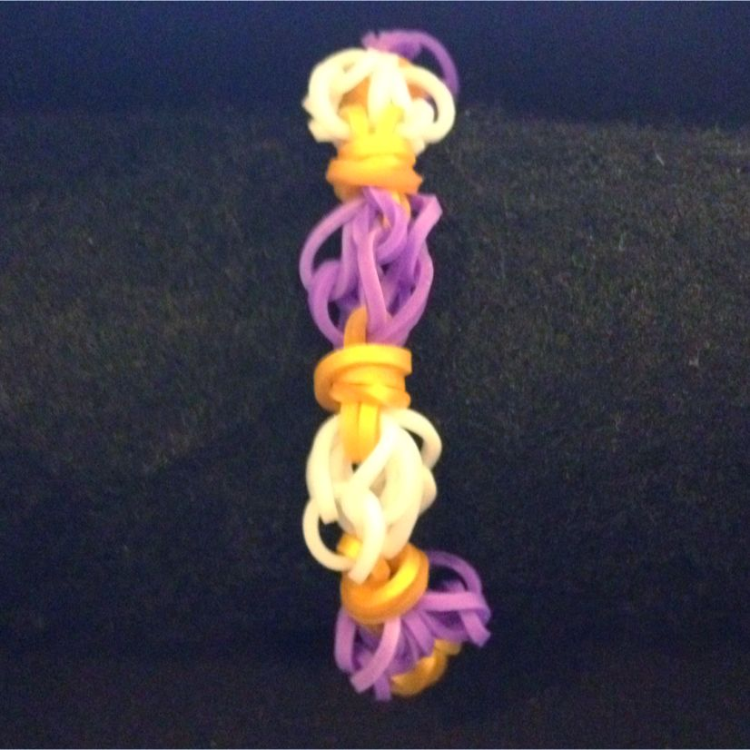 Highest Hope Rainbow Loomband Bracelet