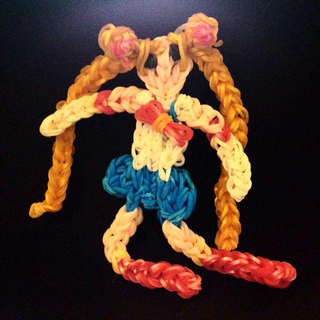 Sailor Moon Rainbow Loom Charm