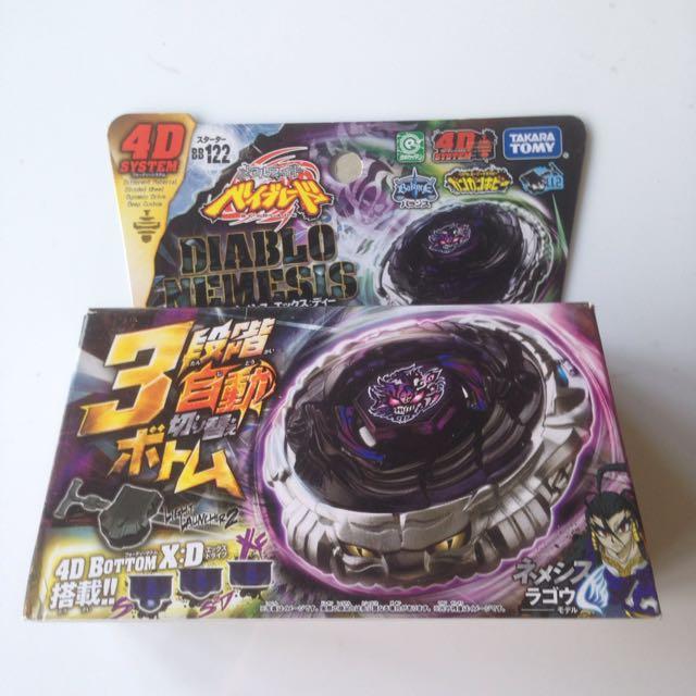 Takara Tomy JAPANESE Beyblade BB-122 Diablo Nemesis X:D 4D system