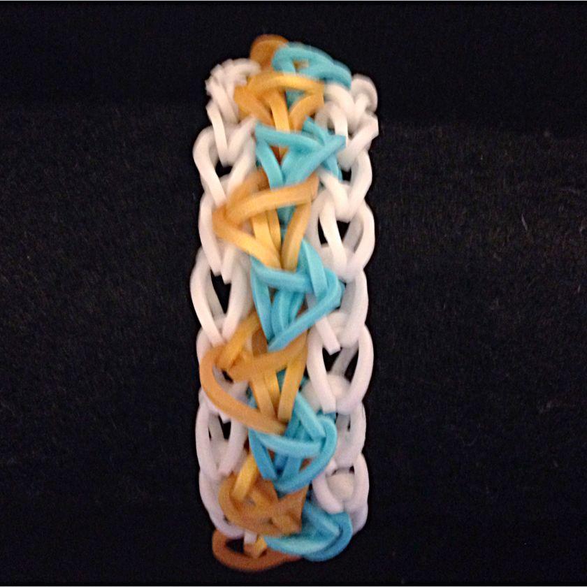 Tribal Aztec Rainbow Loomband Bracelet