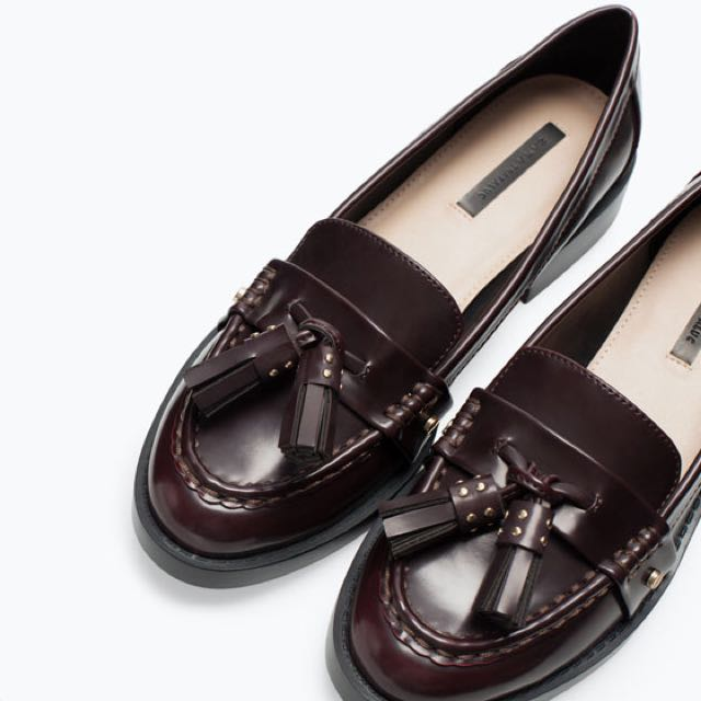 PENDING ZARA BURGUNDY LEATHER LOAFERS