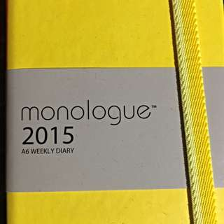 Monologue 2015 A6 weekly Diary