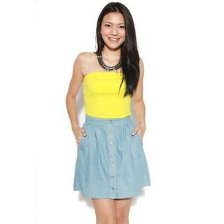 Love Bonito Andie Denim Skirt (Dark)