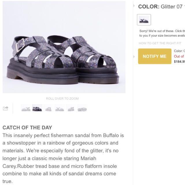 BN Solestruck X Buffalo Glitter Sandals