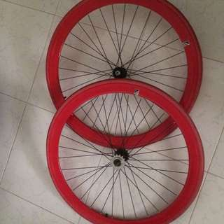 Fixie Red Rims 700c 27inches