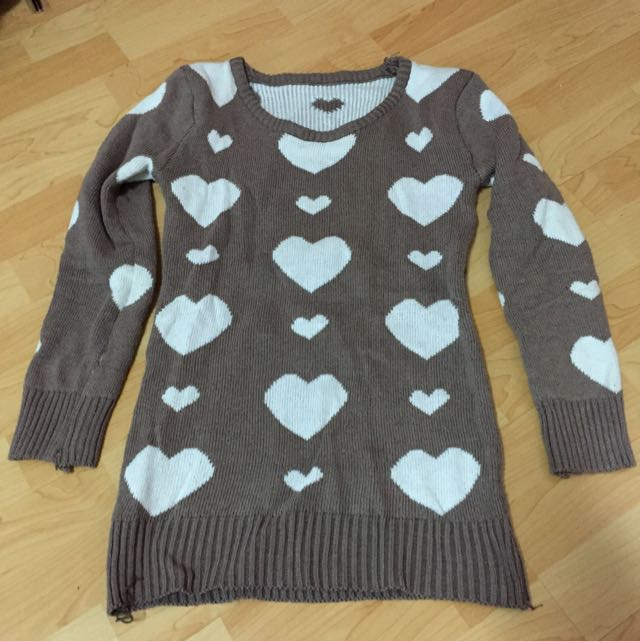 Chocolate Hearts Winter Pullover