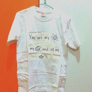 """you are my ☀ my 🌙 and all my ⭐'s"" tshirt"