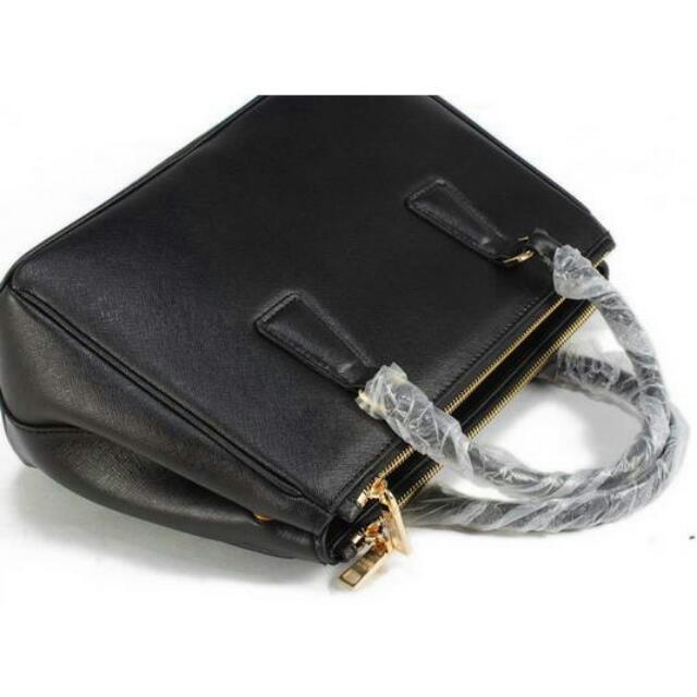 BN1801 Prada Classic Medium Saffiano Tote Bag BN1801 Black 5ec946806625d