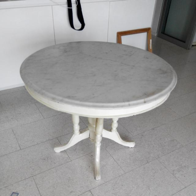 Marble Top Coffee Shop Table From 1950's