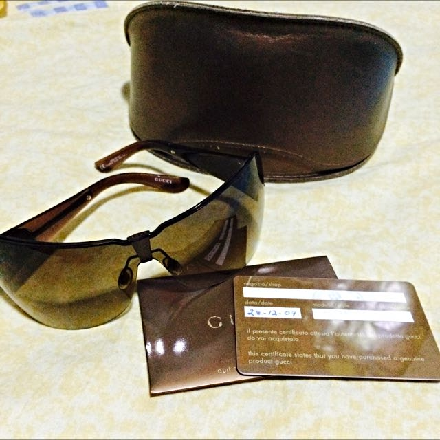 Vintage Gucci shades + Authenticity Certificate