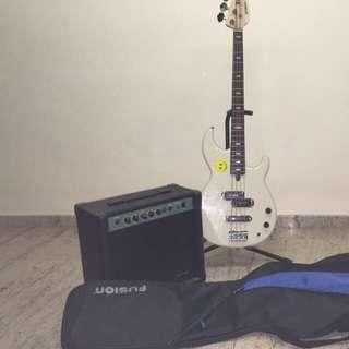 Yamaha BB424 Bass Guitar With Bass Amps And Gig Bag