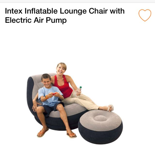 Astonishing Intex Inflatable Lounge Chair With Electric Pump Furniture Onthecornerstone Fun Painted Chair Ideas Images Onthecornerstoneorg