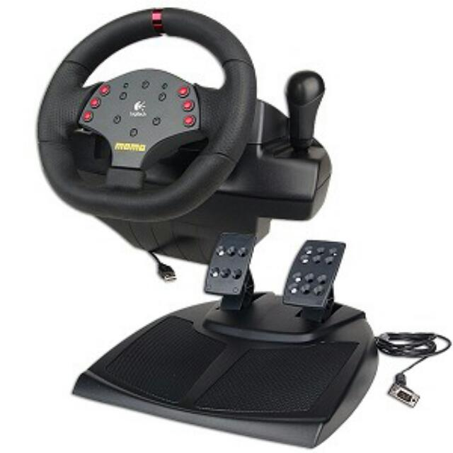 84a917496c9 Logitech Momo Racing Force Feedback Wheel, Toys & Games on Carousell