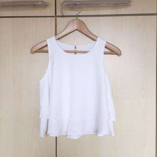 Tionne Crop Top (White)