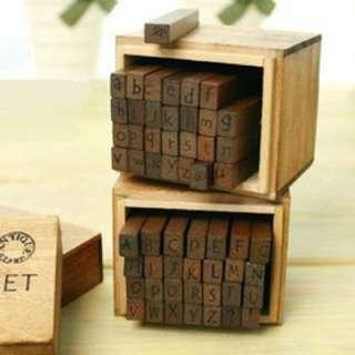Alphabet Wood Stamp