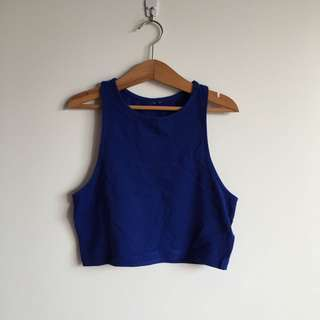 Blue Cropped Top