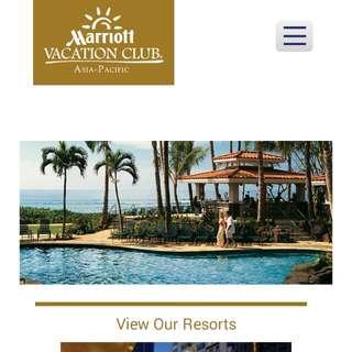Marriott Asia Pacific Vacation Club membership
