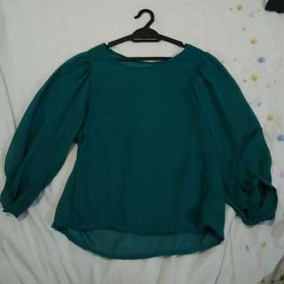 Green Blouse (Preloved)