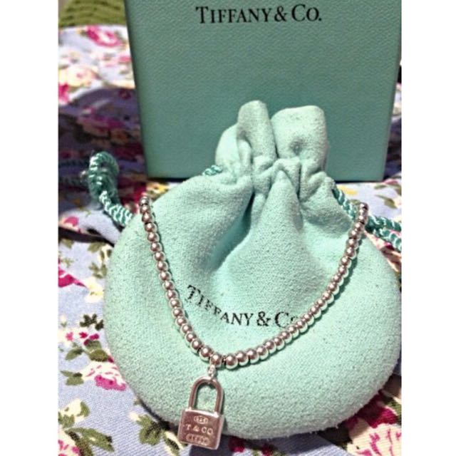 Authentic Tiffany and Co. Padlock Bracelet (17cm)