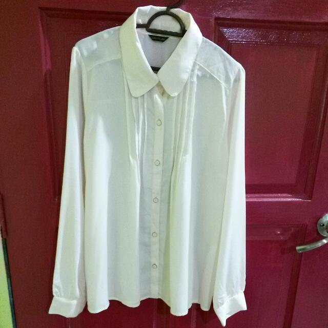 Cream Vintage Blouse