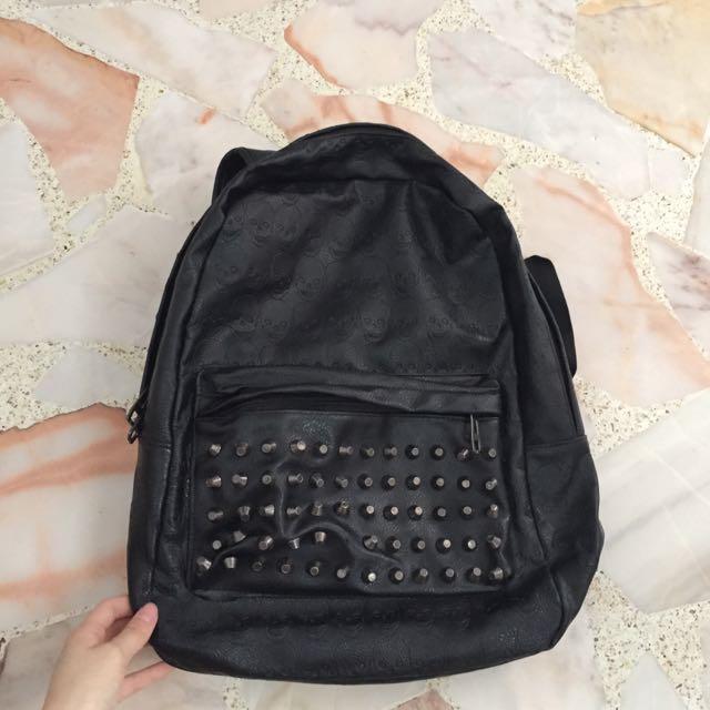 skull school bag