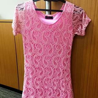 Pinky Laces Bodycon Dress