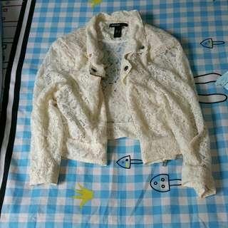 Off White Lace Jacket
