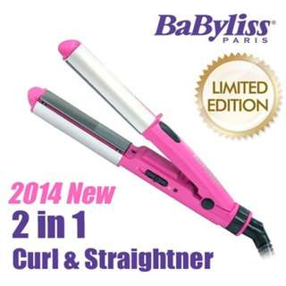 BN BaByliss 2 In 1 Curler And Straightener