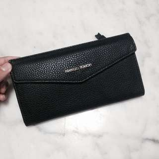 mango touch black soft leather wallet