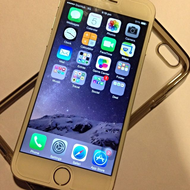 iPhone 6 16gb Silver Starhub Set