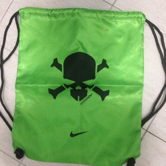 Nike Hypervenom Drawstring Bag (Green), Sports on Carousell f41851fedc