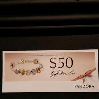 Pandora $50 Gift Voucher